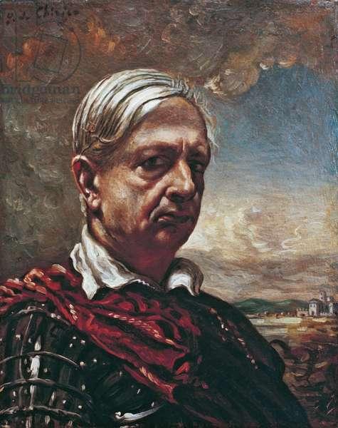 Self Portrait (Autoritratto), by Giorgio de Chirico, 1948, 20th Century, oli and tempera on canvas, 50 x 40 cm