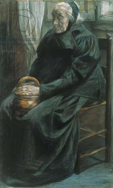 Grandmother (Nonna), by Boccioni Umberto, 1905, 20th, pastel on cardboard