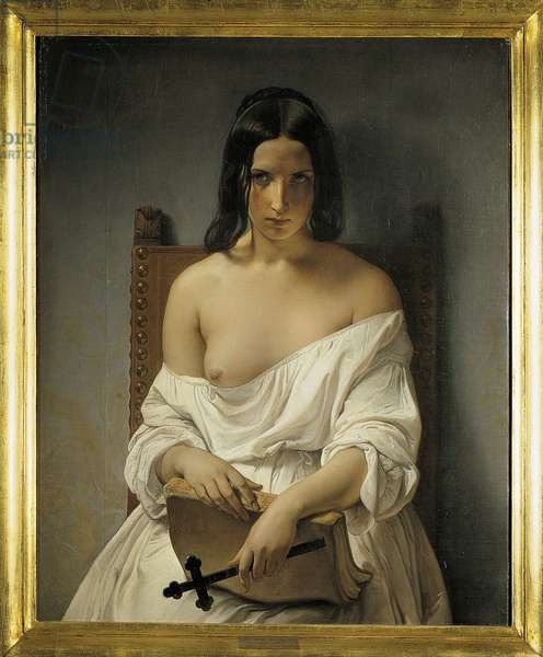 The Meditation, 1848-1851 (oil on canvas)