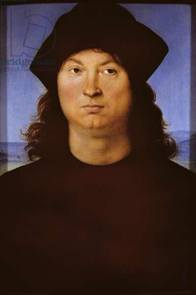 Raffaello Sanzio, Portrait of a man, 1502, 16th century, oil on panel, 289x190 cm, total. Italy, Rome (Rome), Galleria Borghese