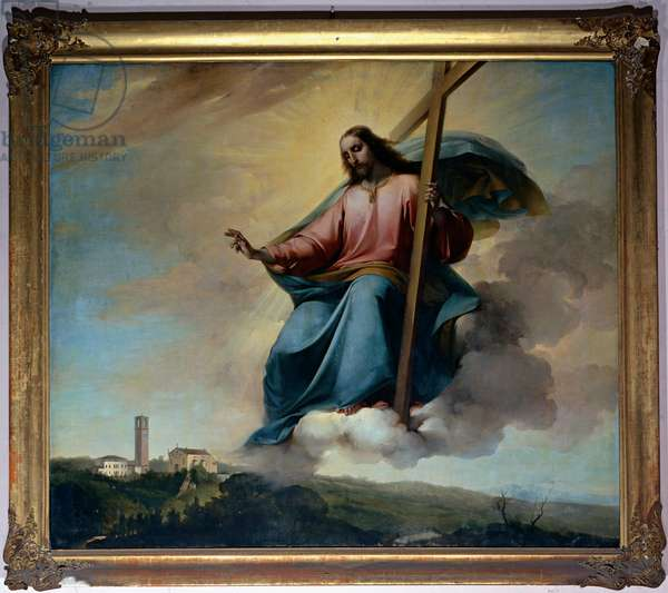 Christ in the Act of Blessing Montebelluna, 1856 - 1857 (canvas)
