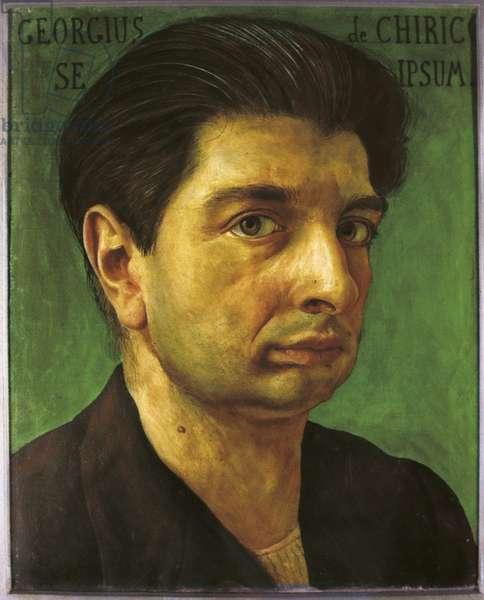 Self-portrait (Autoritratto), by Giorgio de Chirico, 1920, 20th Century, tempera on canvas, 30 x 24 cm