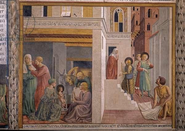 Scenes from the life of St. Francis, by Benozzo Gozzoli, 1452, 15th century, fresco.
