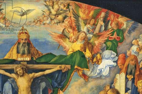 Adoration of the Trinity - All the Saints (Adorazione della Trinità - Pala d'Ognissanti), by Albrecht Durer, 1511, 16th Century, oil on poplar board, 135 x 123 cm