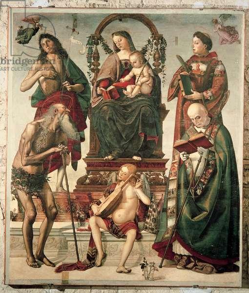 Sant'Onofrio Altarpiece, 1484 (panel)