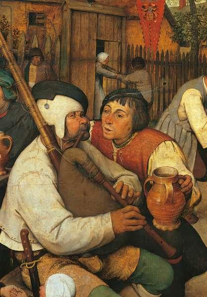 The Peasant Dance, by Pieter Bruegel the Elder, 1566, 16th Century, oil on wood, cm 114 x 164