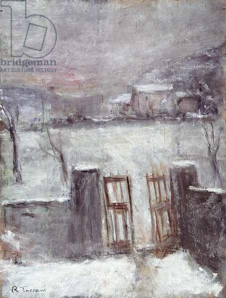 Winter, c.1960 (oil on canvas)
