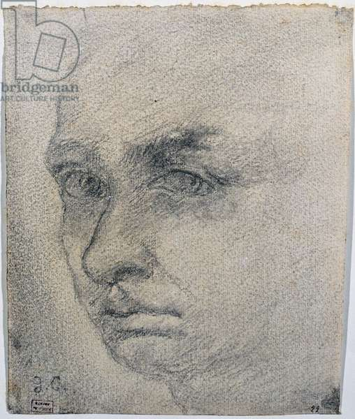 Self-portrait (Autoritratto), by Giorgio De Chirico, 20th Century, pencil on cardboard