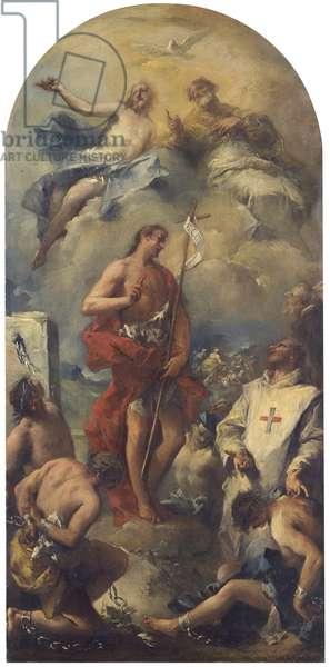 Vision of St. John of Matha, by Giovanni Antonio Guardi, 18th Century, canvas