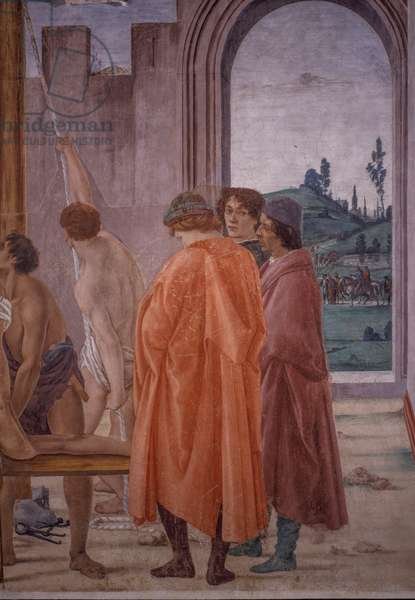 Disputation with Simon Magus and Crucifixion of Peter, 1482-1494 (fresco)