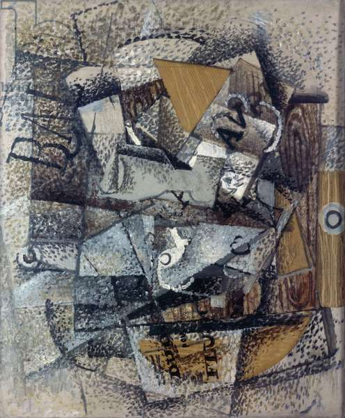 Duo for flute (Duo pour flûte), by Georges Braque, 1911, 20th Century, 55 x 46 cm