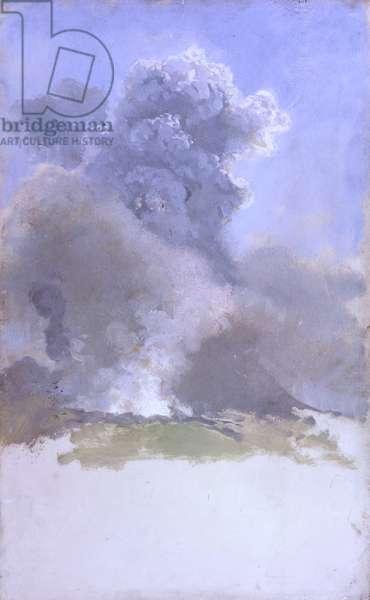 Eruption of Vesuvius (Eruzione del Vesuvio), by Giuseppe De Nittis, 1872, 19th Century, canvas, 29 x 47 cm