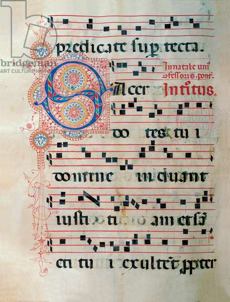 Proprio dei Santi gradual from St Andrew Apostle Eve to the Feast of pope Clement and Comune dei Santi gradual from an Apostle Eve to the dedication of the church, (illuminated manuscript)