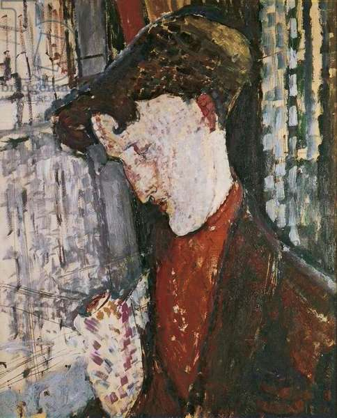 Portrait of the Painter Frank Haviland, by Amedeo Modigliani, 1914, 20th Century, oil on cardboard, 73 x 60 cm