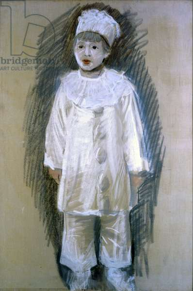 Little Pierrot (Piccolo Pierrot), by Giuseppe De Nittis, 1867, 19th Century, crayon on canvas, 100 x 76 cm