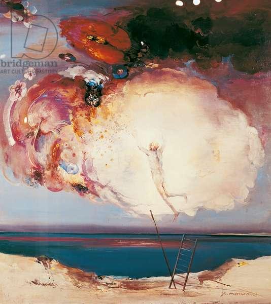Triumph of Simon Magus, c.1970 (oil on canvas)
