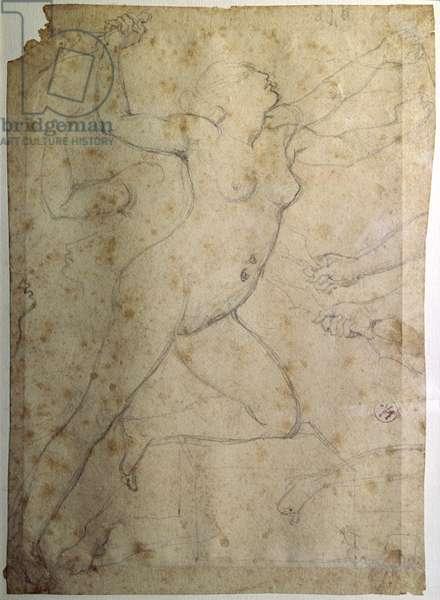 Medea, by Jean Auguste Dominique Ingres, 19th Century, graphite on paper, 18,6 x 13,5 cm