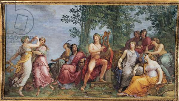 Parnassus (Apollo and the Muses), 1811 (fresco)