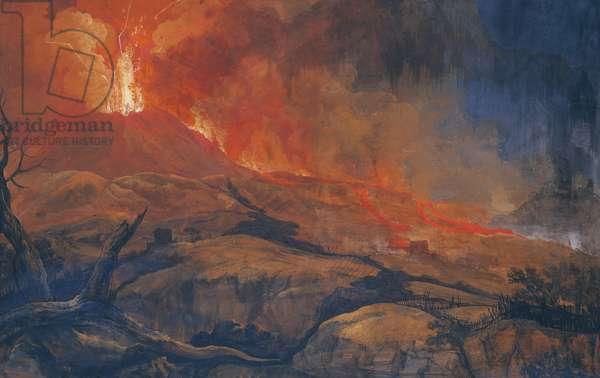 Eruption of Vesuvius (Eruzione del Vesuvio), 18th century (oil on canvas)