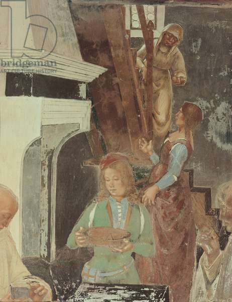 Benedict Telling the Monks Where and When they Had Eaten out of the Monastery, 1497 - 1498 (fresco)