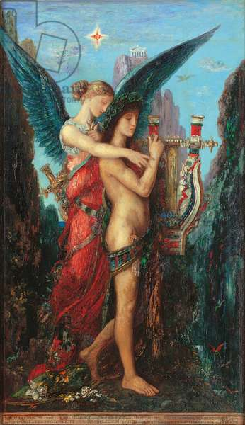 Hesiod and the Muse, 1891 (oil on canvas)
