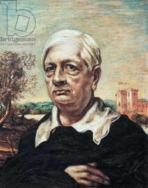 Self-portrait (Autoritratto), by Giorgio de Chirico, c. 1967, 20th Century, oli on canvas