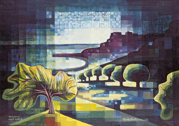 Peschici. Clavia Valley, 1968 (oil on canvas)