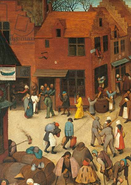 The Fight Between Carnival and Lent, by Pieter Bruegel the Elder, 1559, 16th Century, oil on wood, 118 x 164 cm