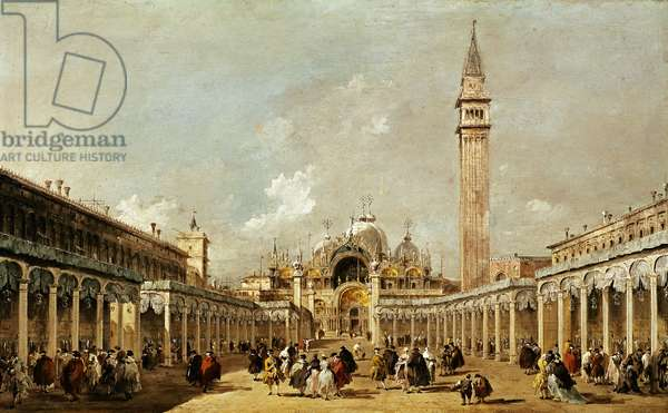 La festa della Sensa in piazza San Marco, 1775 (oil on canvas)