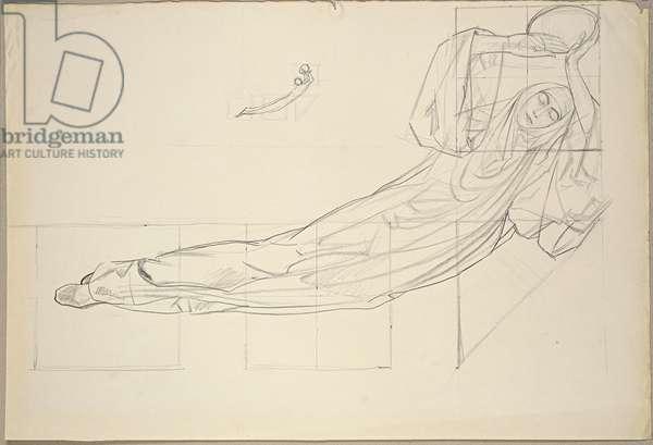 Femme fatale (Supine Woman) (Donne fatali (Donna supina), 1924 (pencil on cardboard)