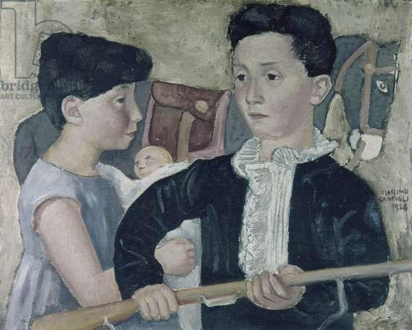 Children (I bambini), by Massimo Campigli, 1928, 20th Century, 57 x 70 cm