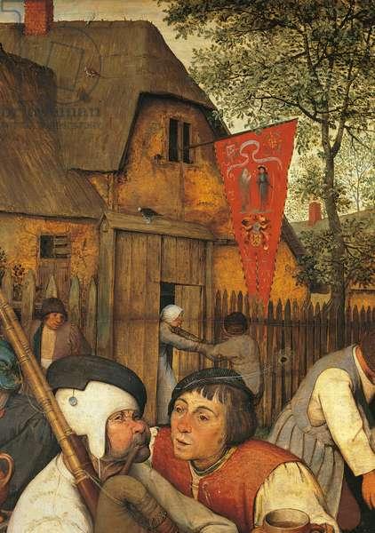 The Peasant Dance, by Pieter Bruegel the Elder, 1566, 16th Century, oil on wood, 114 x 164 cm