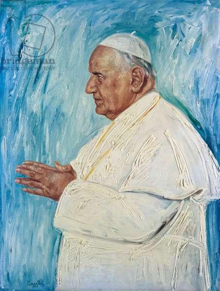 Portrait of John XXIII (oil on canvas)