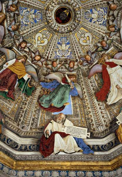 Decoration of Sacristy of St Mark: Angels and the Prophet Isaiah, 1480 (fresco)