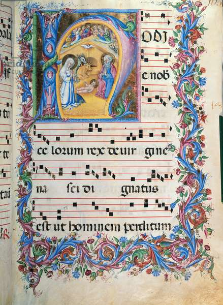 Day hours and night hours antiphonary from the first Saturday of Advent to the IV Sunday after Epiphany, (illuminated manuscript)