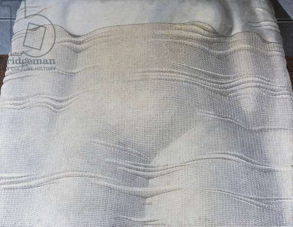 The sheet or Sleeper (Il lenzuolo o Dormiente), by Domenico Gnoli, 1965, 20th Century