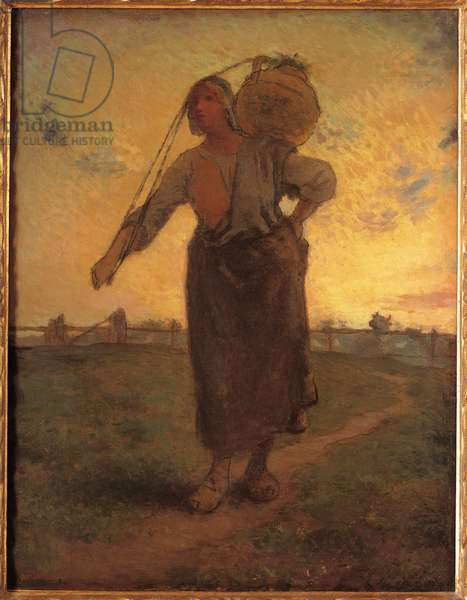 The Norman milkmaid in Greville, 1874
