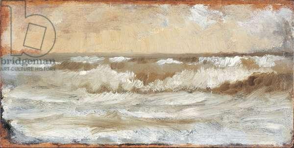 Study for Stormy Sea (Studio per mare in burrasca), by Giuseppe De Nittis, 19th Century, oil on canvas