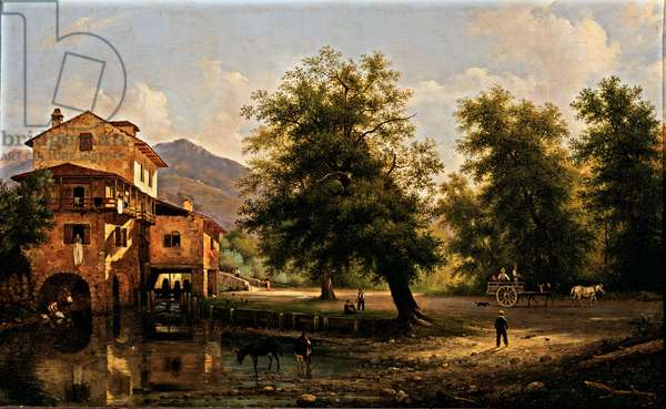 A mill, 1844 (oil on canvas)