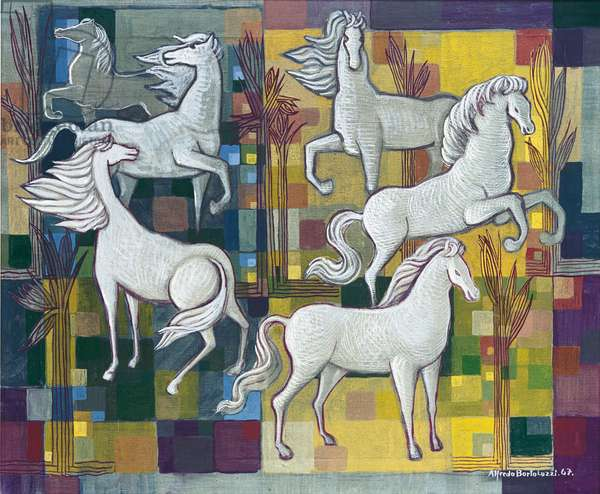 White Horses, 1967 (oil on canvas)