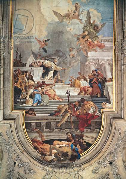The Institution of the Rosary, 1737 - 1739 (fresco)