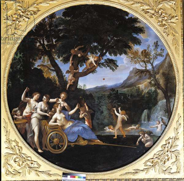 Venus at her Toilet, by Francesco Albani, 1618 about, 17th Century, oil on canvas