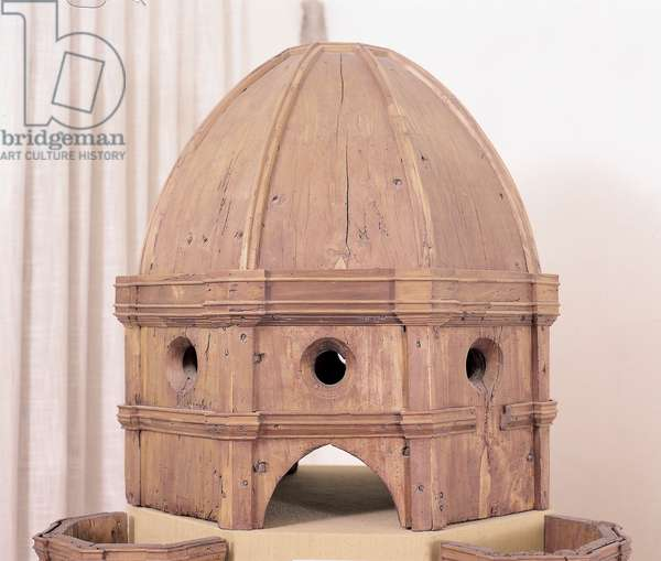 A Model of the Dome, (wood)