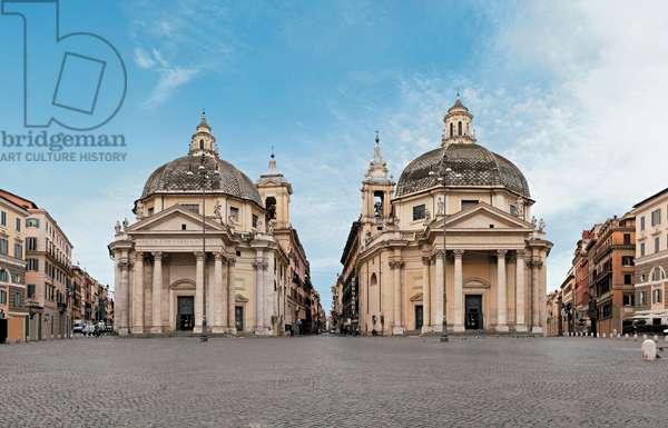 Churches of Santa Maria Regina Coeli in Montesanto and Santa Maria dei Miracoli in Piazza del Popolo, 1662 - 1681