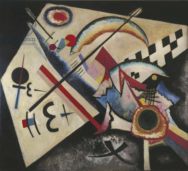 White Cross, by Wassily Kandinsky, 1922, 20th Century, oil on canvas, 100,5 x 110,6 cm