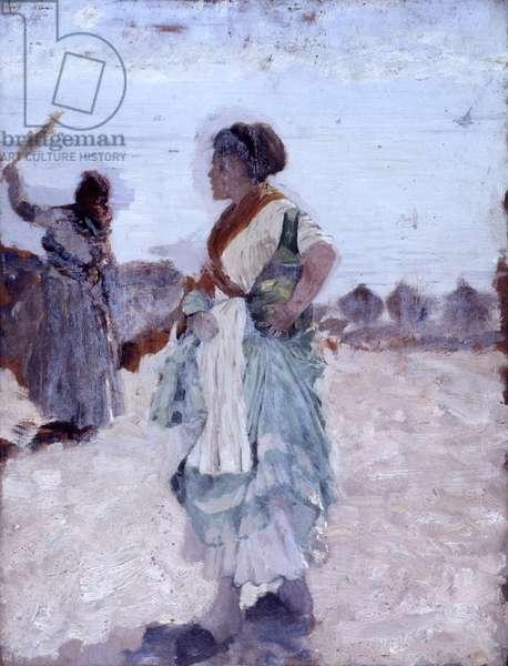 Waiting (In attesa), by Giuseppe De Nittis, 19th Century
