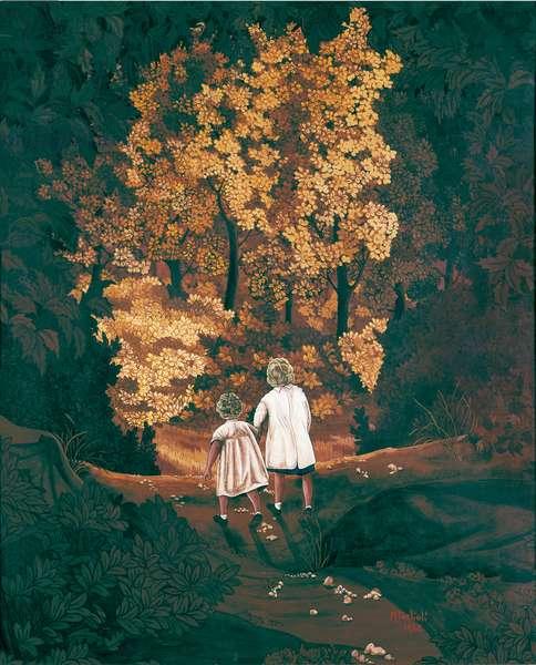 Autumn Forest, 1968 (oil on canvas)