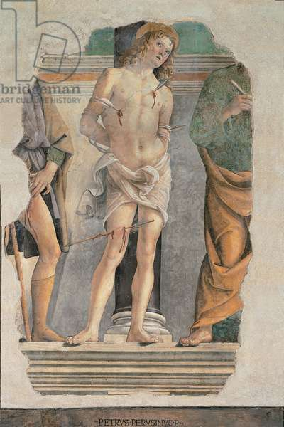 St Sebastian with fragments of St Roch and St Peter, 1478 - 1478 (15th Century)