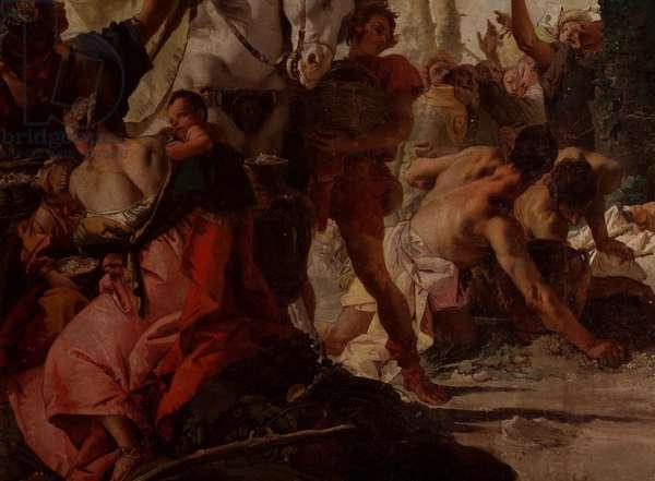 Gathering of the Manna, by Giambattista Tiepolo, 1740-1742, 18th Century, oil on canvas, 10 x 5,25 m