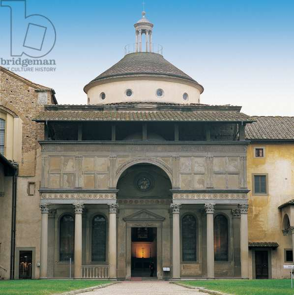 Pazzi Chapel in Florence, 1430 - 1444 (plaster and Serena stone)